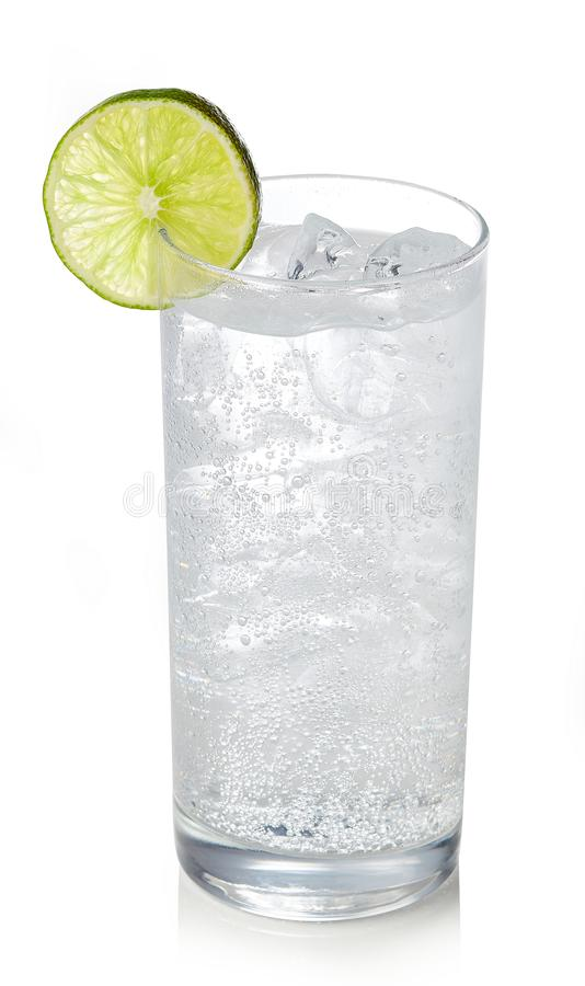 Glass of gin and tonic cocktail royalty free stock photography