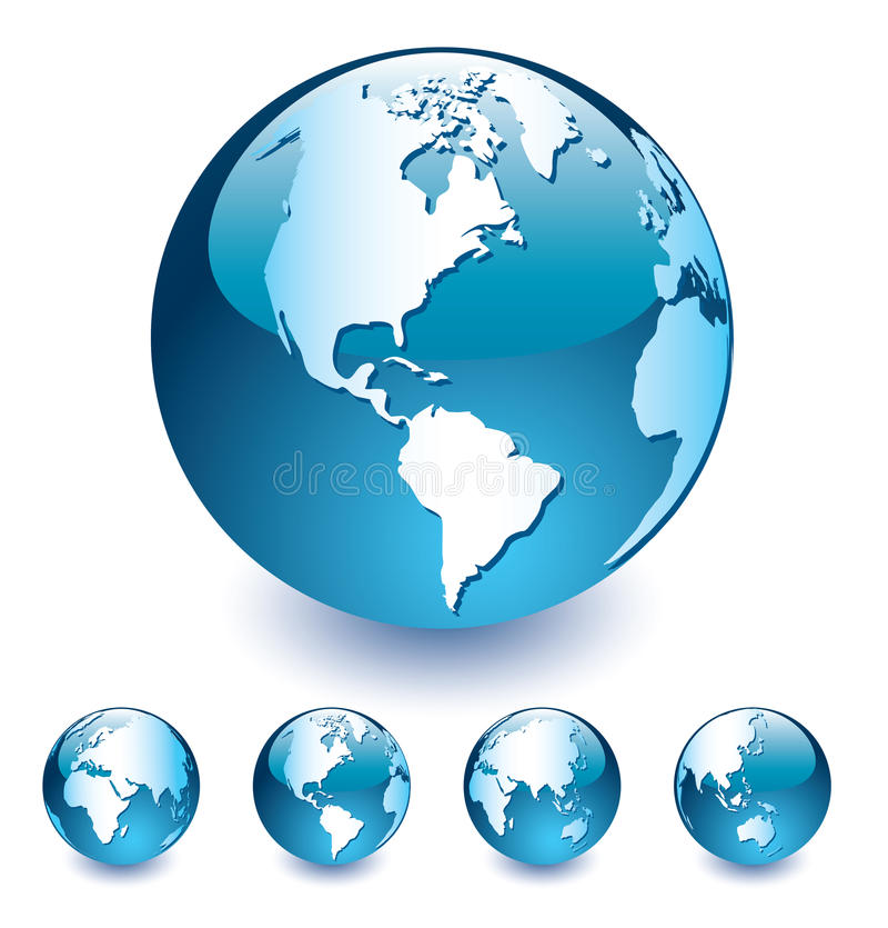 Glass_globe vektor abbildung