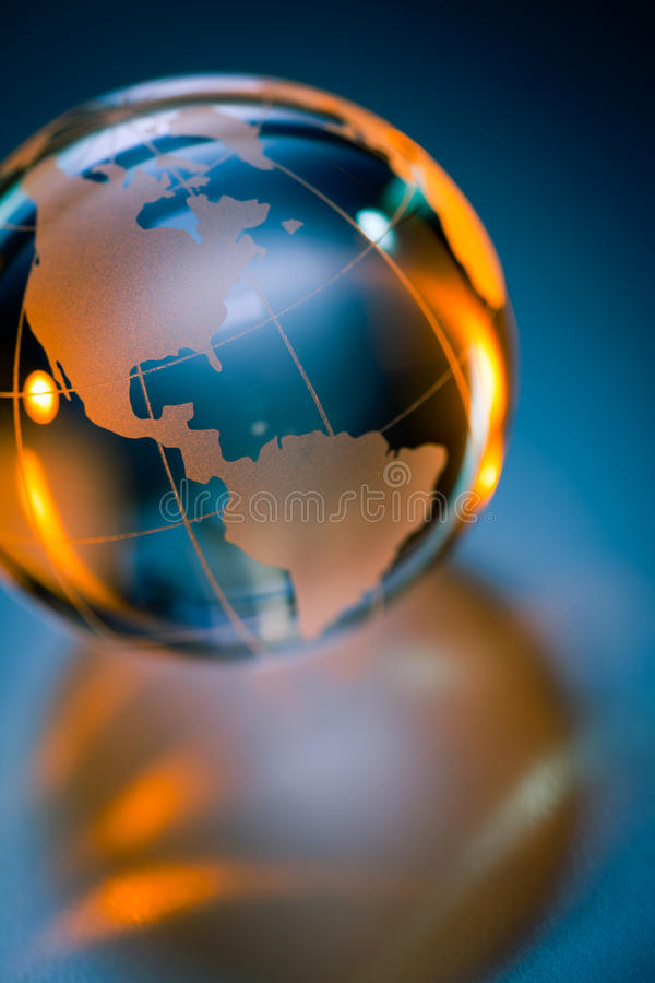 Glass globe of Planet Earth royalty free illustration