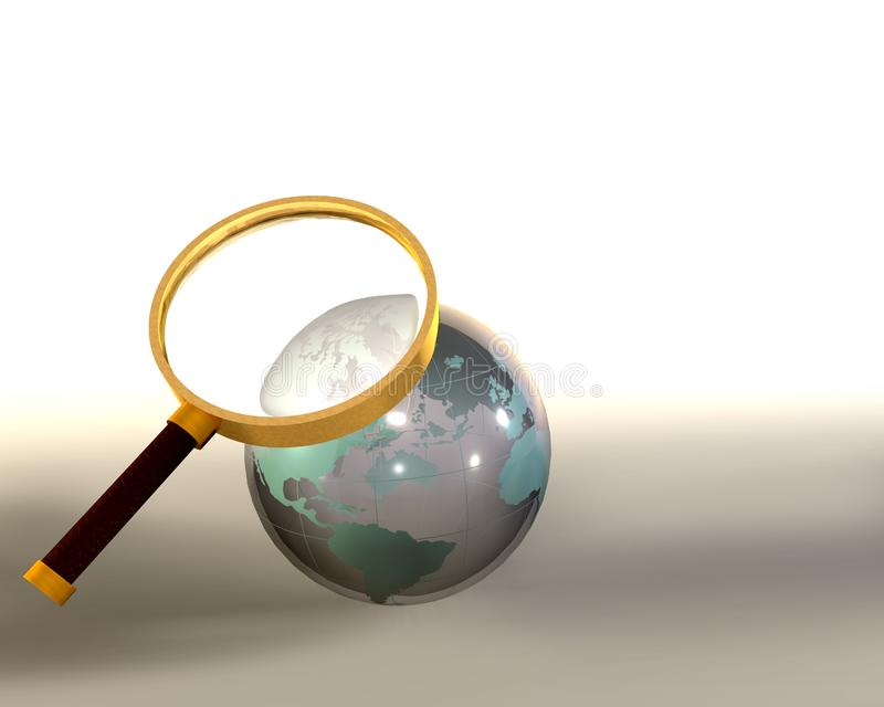 Glass globe sphere stock image