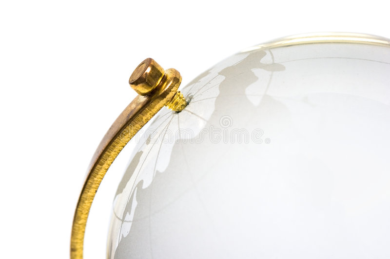 Glass globe of the world royalty free stock photo
