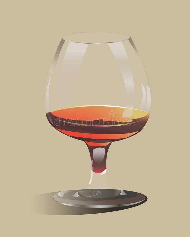 Glass goblet filled with alcohol royalty free stock photo
