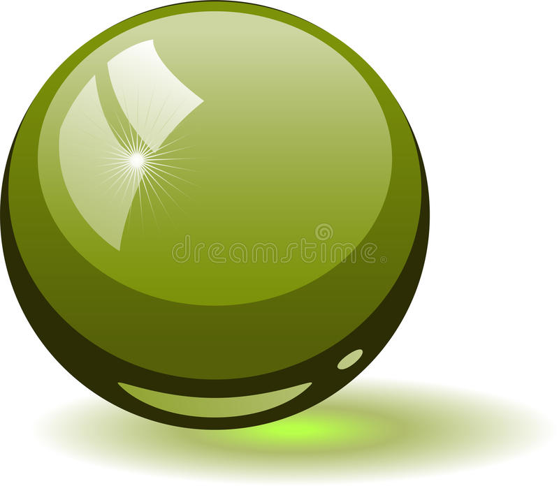 glass grön sphere vektor illustrationer
