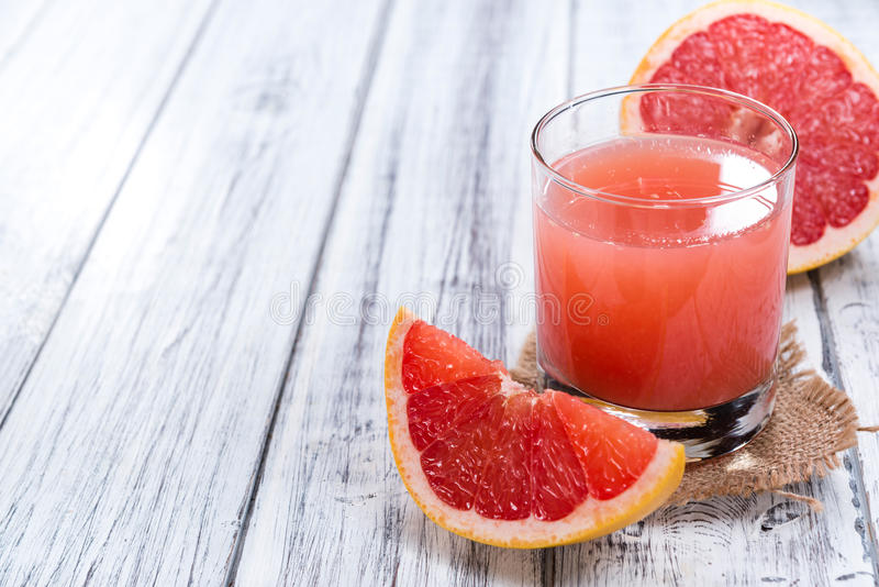 Glass with Grapefruit Juice royalty free stock photography