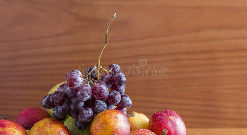 Glass and grapes royalty free stock photo
