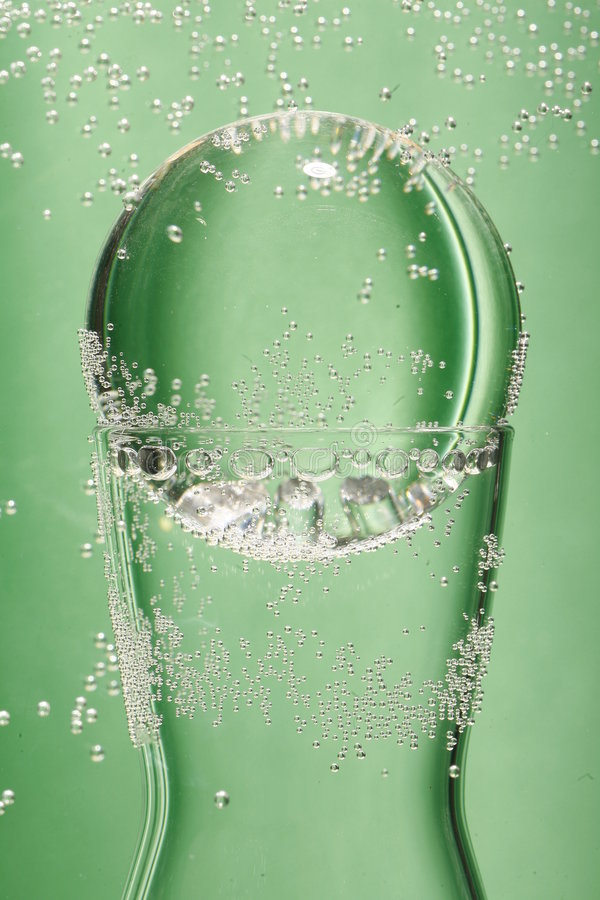 Glass and green Background stock image