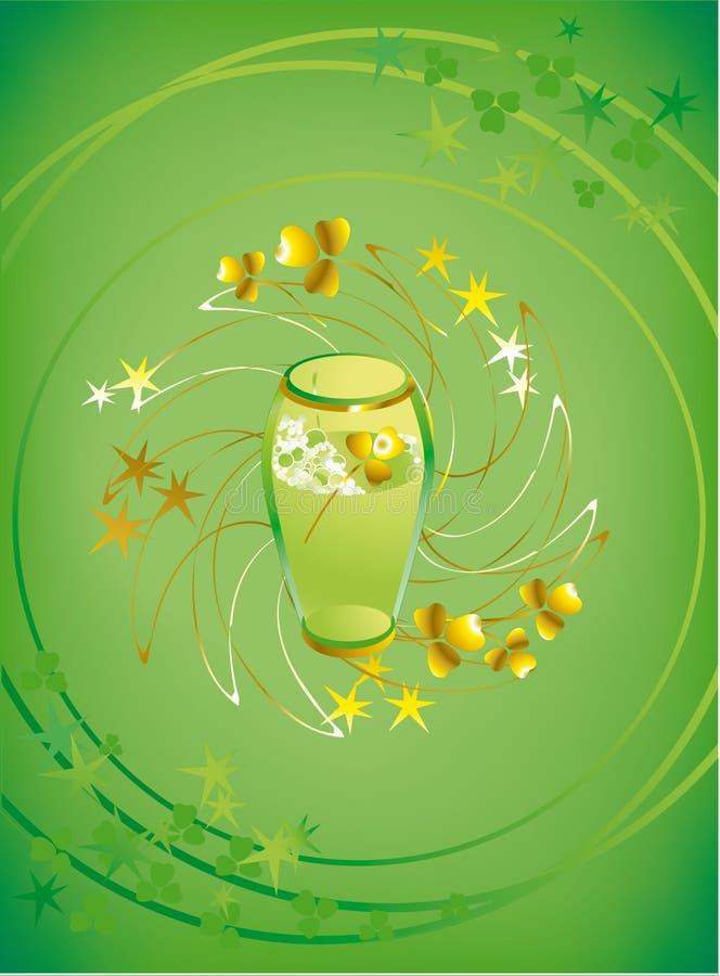 Download Glass of green beer stock vector. Image of good, beer - 2036365