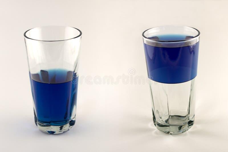 Glass Half Empty, Half Full royalty free stock photos