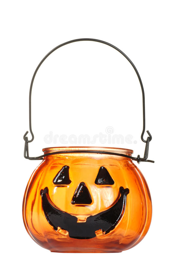 Free Glass Halloween Pumpkin Candle Holder Royalty Free Stock Photo - 15990625