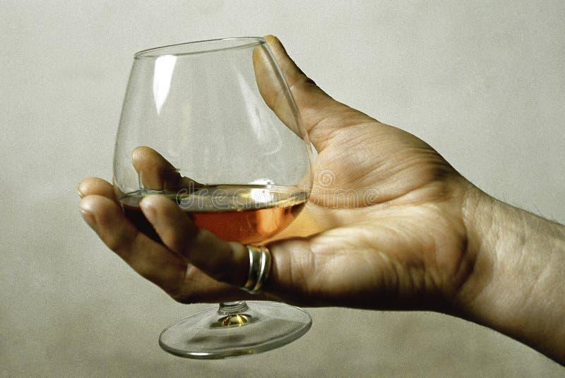 glass hand royaltyfri bild