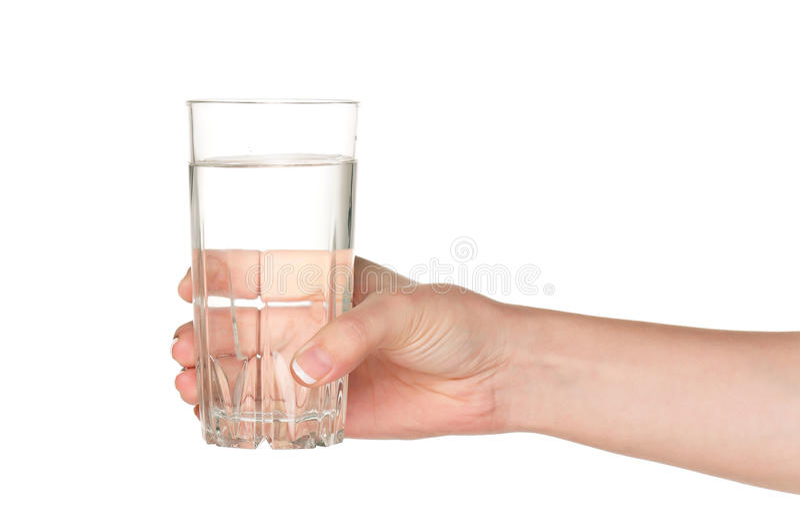 glass handvatten royaltyfri fotografi