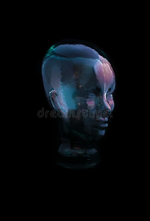 Download Clear Glass Head stock photo. Image of brain, glass, human - 30855972