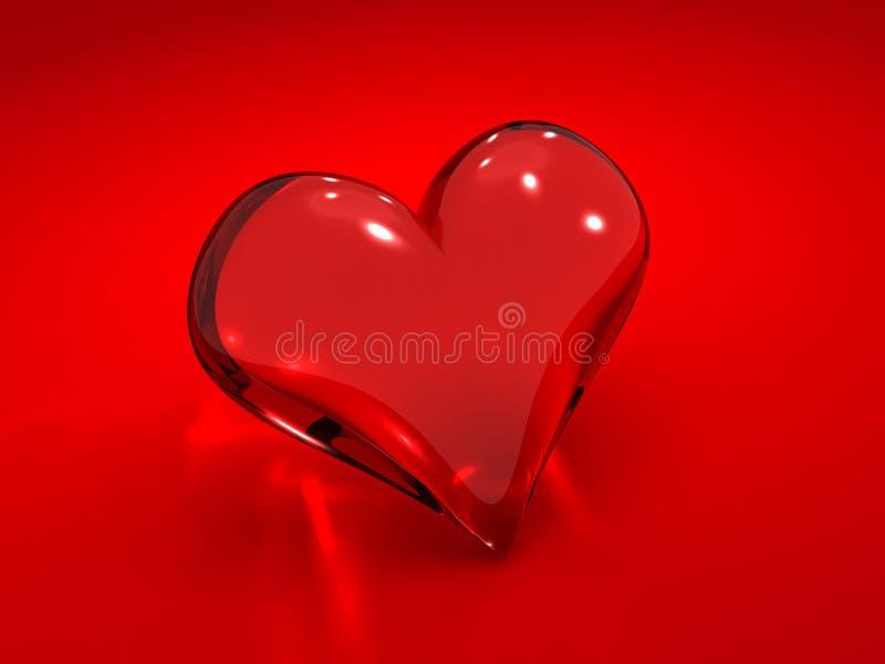 Glass heart vector illustration