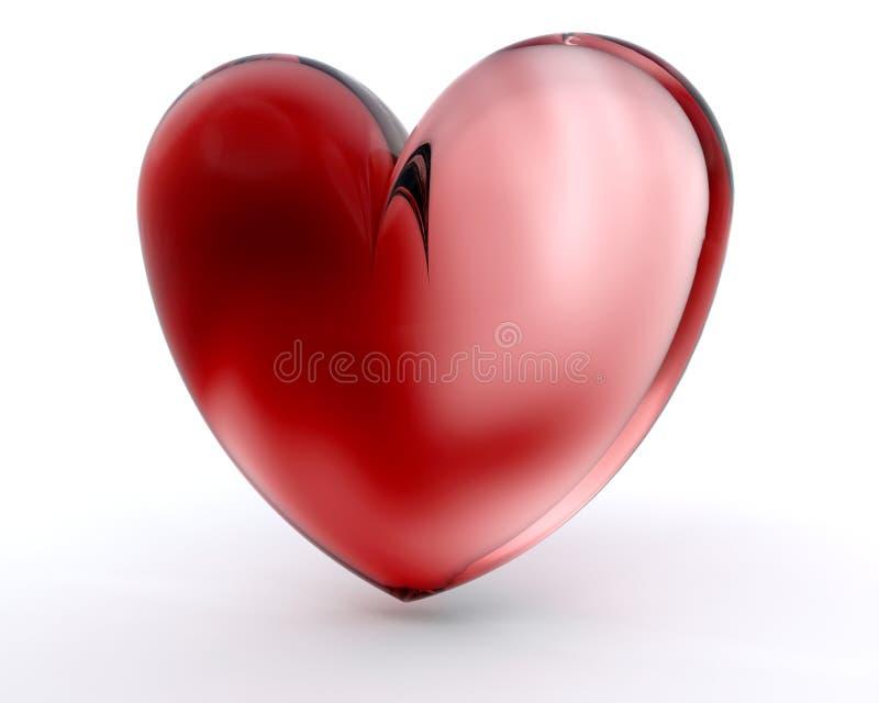 Glass heart stock illustration