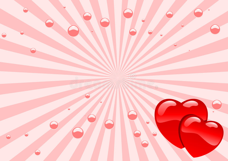 Glass hearts vector illustration