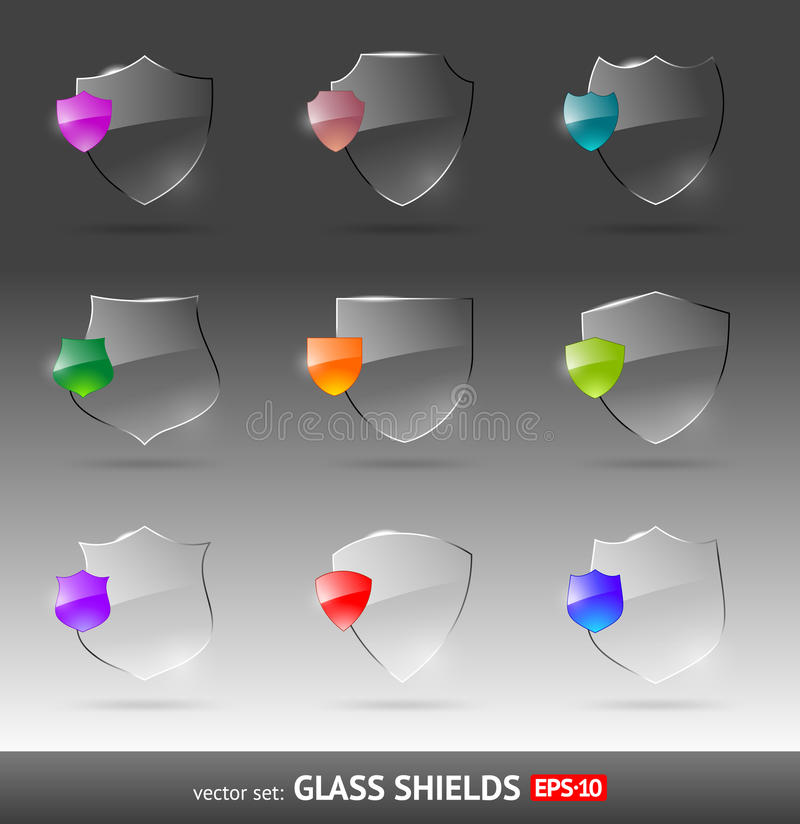 Download Glass heraldic shields stock vector. Illustration of emblem - 20602513