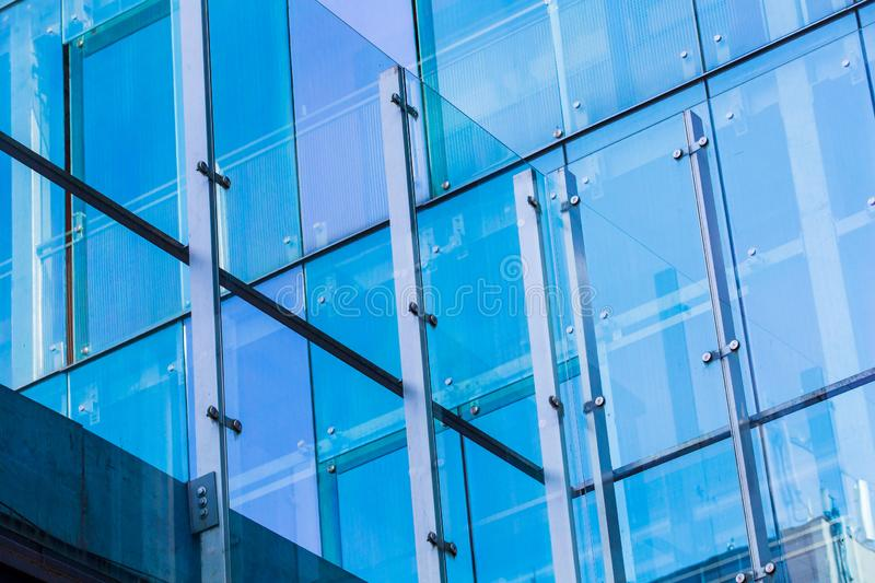 Glass high rise building concept. Modern architecture concept. Glass windows in high-rise stock photos