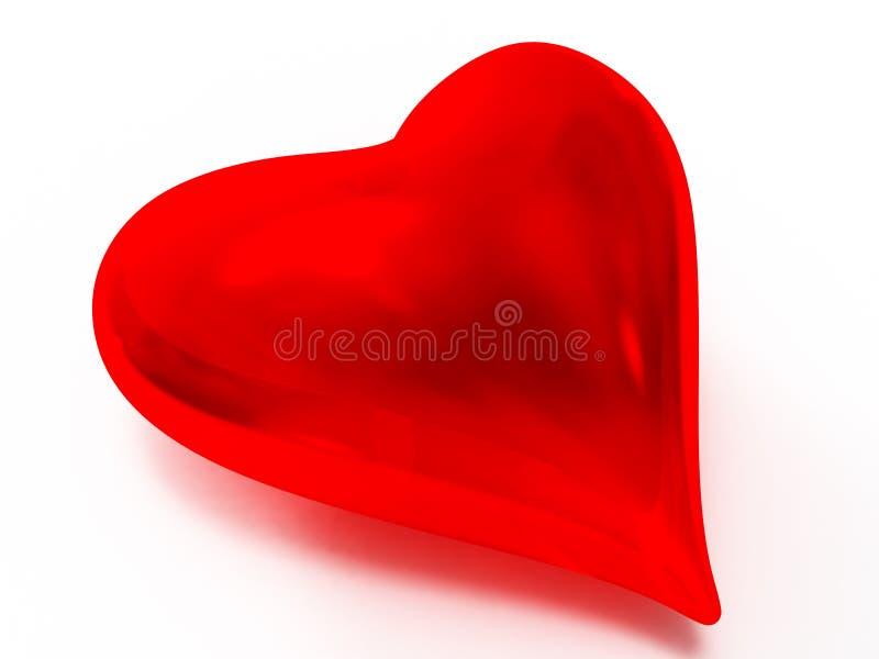 glass hjärta stock illustrationer