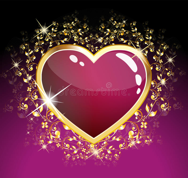 glass hjärtapurple vektor illustrationer