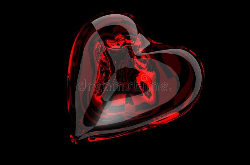 glass hjärtared royaltyfria bilder