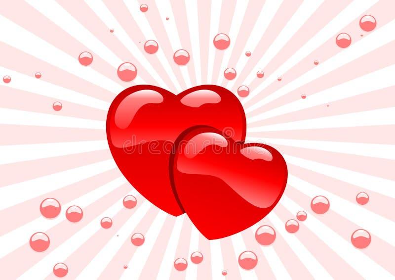 glass hjärtor royaltyfri illustrationer