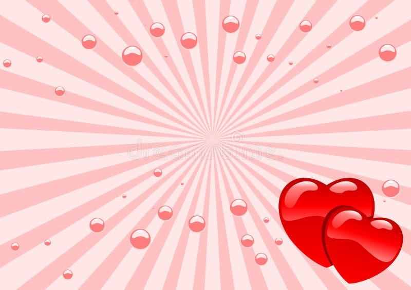 glass hjärtor vektor illustrationer