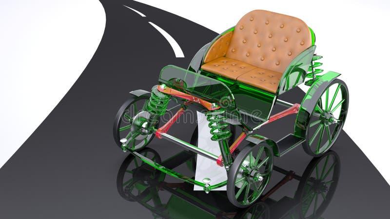 Glass Horse Cart Stock Illustration