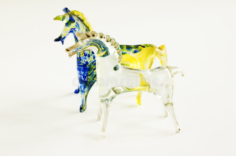 Glass horses stock images