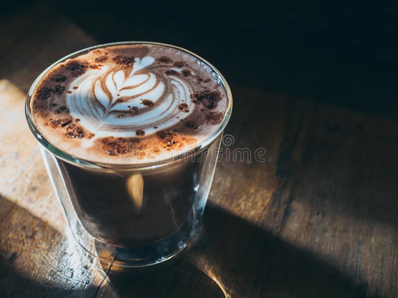 A glass of hot chocolate royalty free stock photo