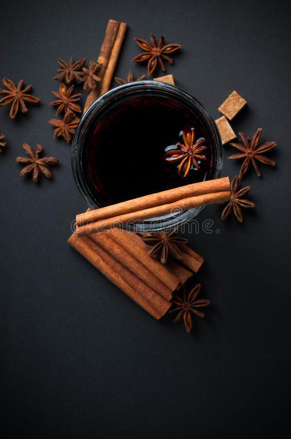 Download Glass of hot mulled wine stock image. Image of homemade - 34016815