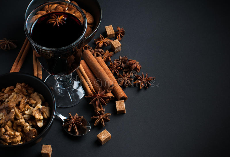 Download Glass Of Hot Mulled Wine Royalty Free Stock Photos - Image: 34016868