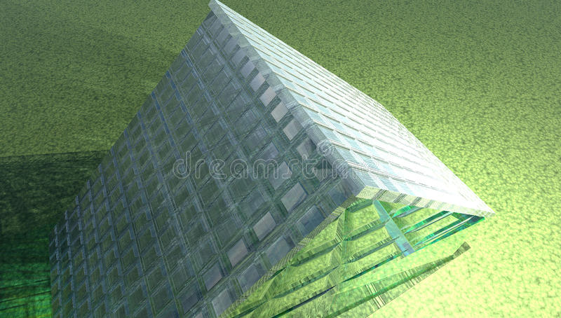 Glass house royalty free illustration