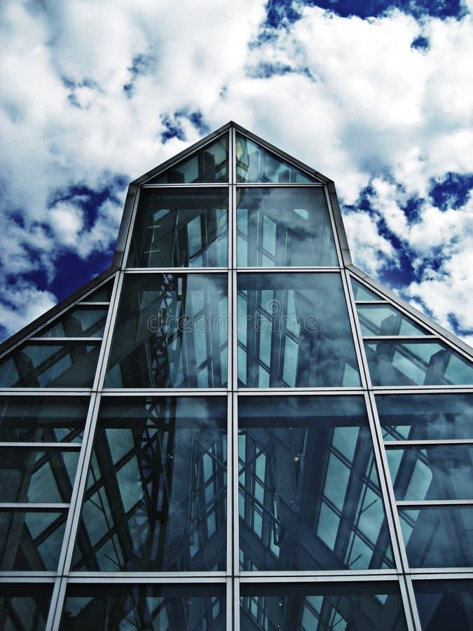 Glass house stock photo