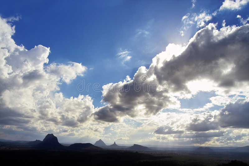Glass House Mountains Lookout royalty free stock photo