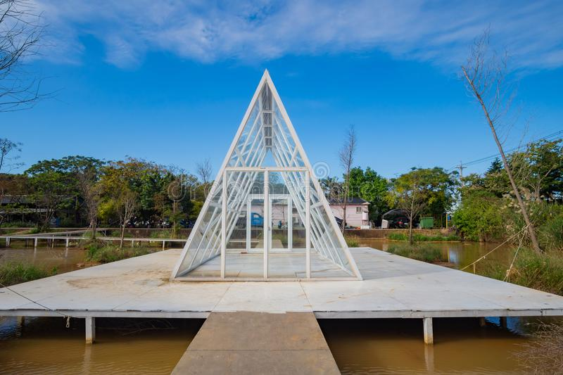 Glass house at a recreation center. Taoyuan, DEC 15: Glass house at a recreation center on DEC 15, 2018 at Taoyuan, Taiwan stock images