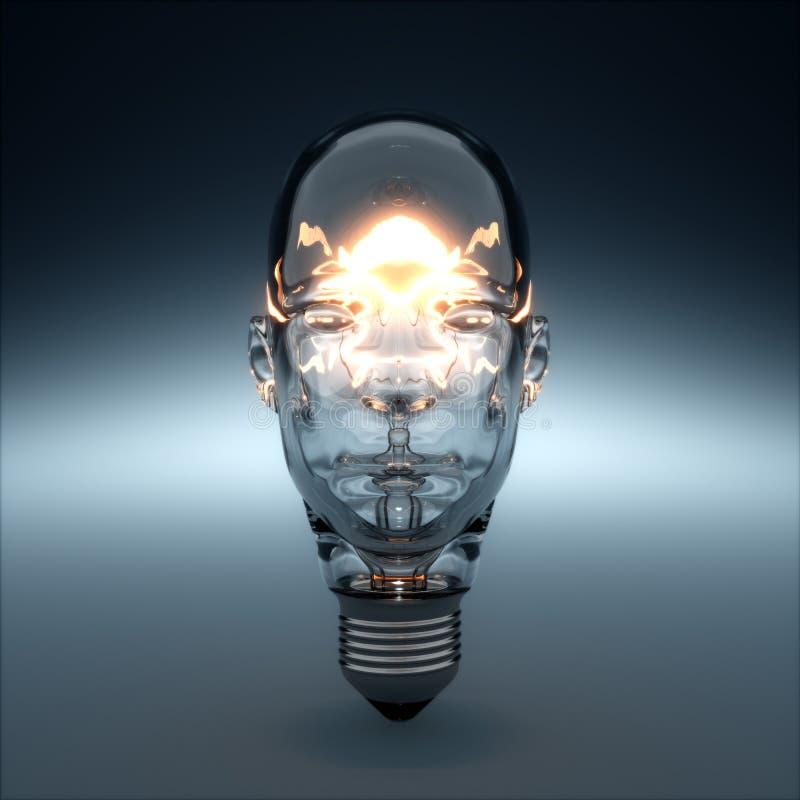 Glass huvud format glöda för ljus kula vektor illustrationer