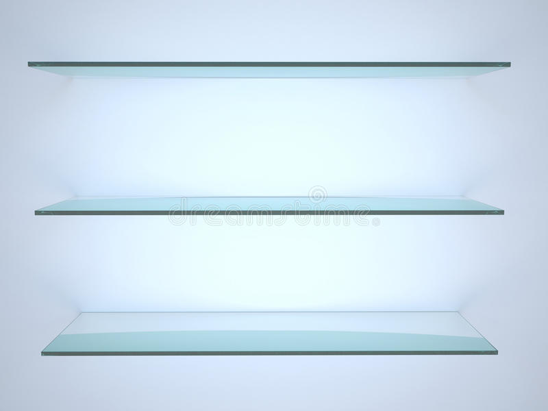 Glass hylla arkivfoton
