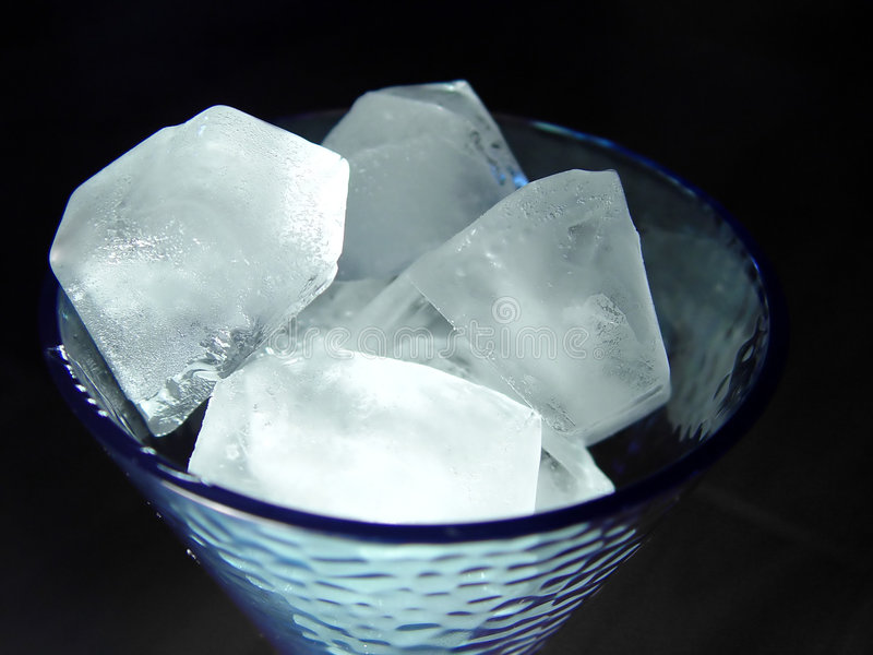 Glass of Ice royalty free stock images