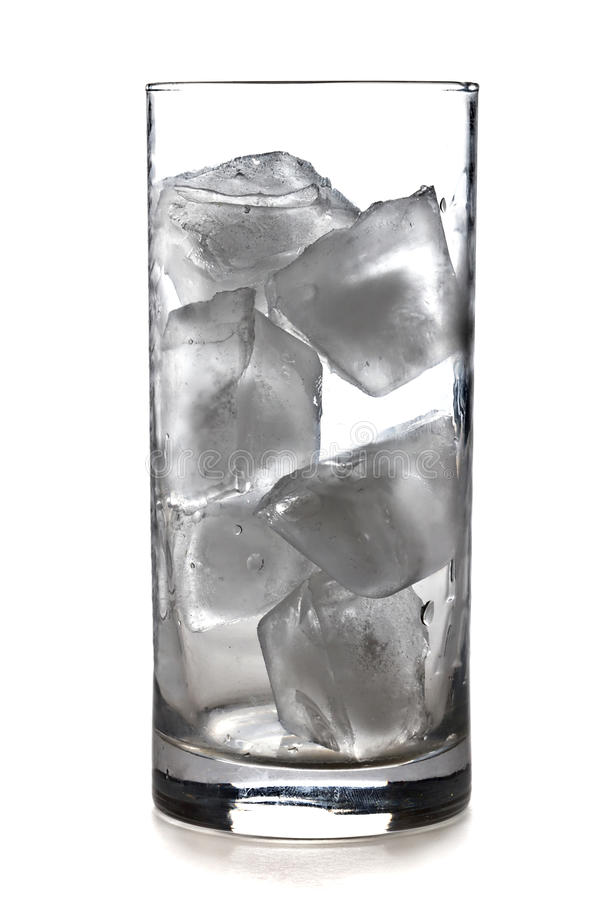 Download Glass of ice cubes stock image. Image of food, studio - 21936907