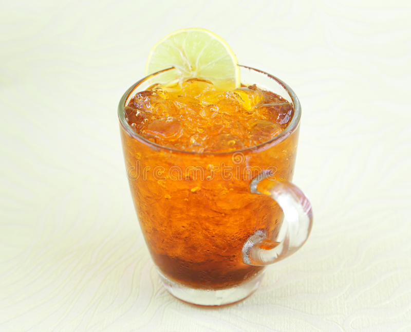 A glass of ice tea stock photography
