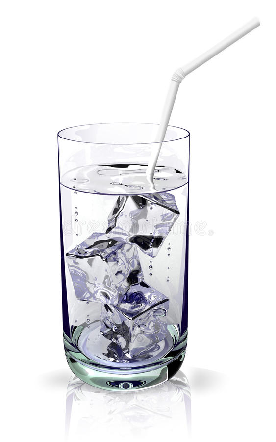 Glass with a ice water royalty free stock photo