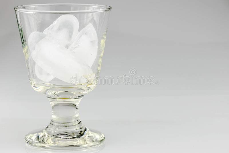 Glass of Icecubes royalty free stock photo