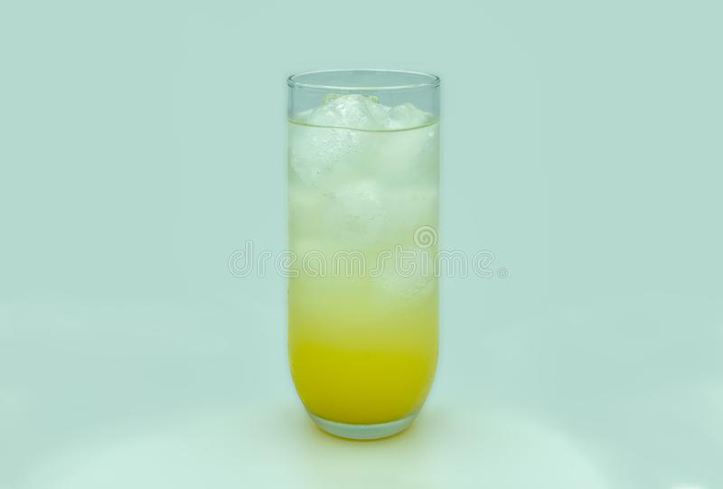 Glass of iced orange drink stock photography