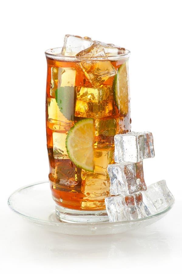 Glass of iced tea royalty free stock photos