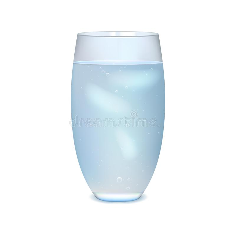 Glass of iced water stock photo