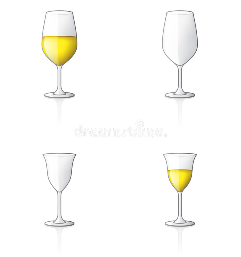 Download Glass Icon Set 60o stock vector. Illustration of beverage - 2587098