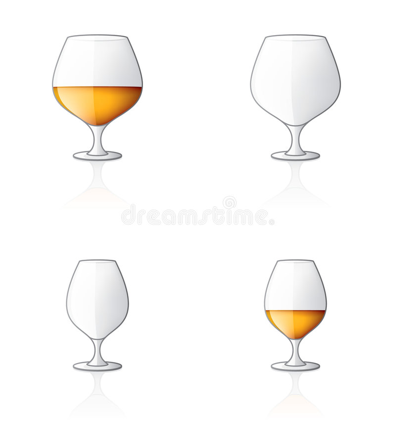 Glass Icon Set 60u, Brandy/Cog