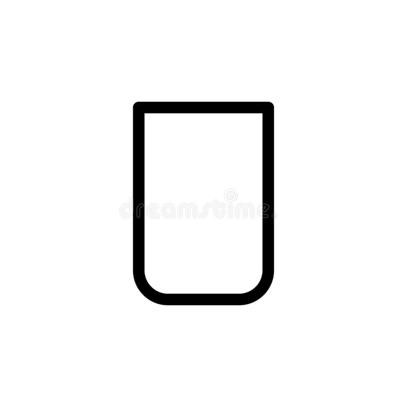 glass icon. Simple thin line, outline vector of Glass drink icons for UI and UX, website or mobile application stock illustration