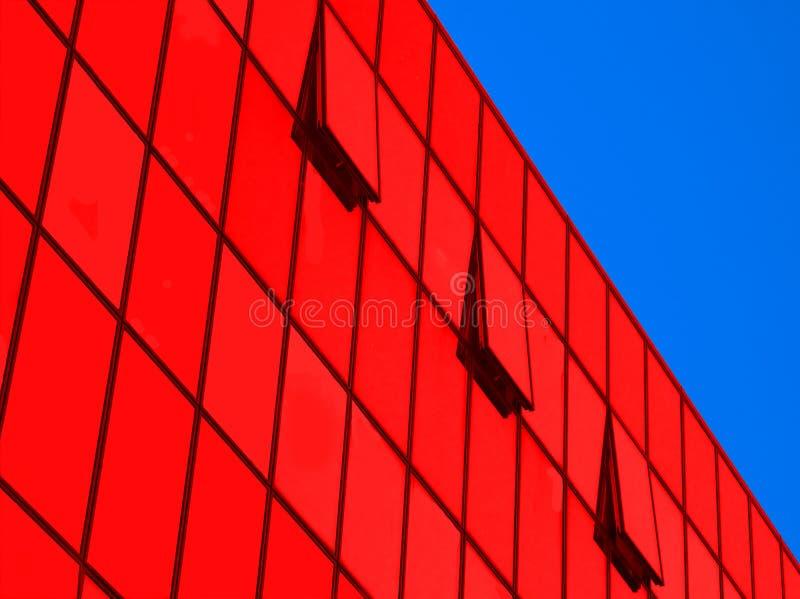 glass industriell modern perspektivvägg för buildi arkivfoton