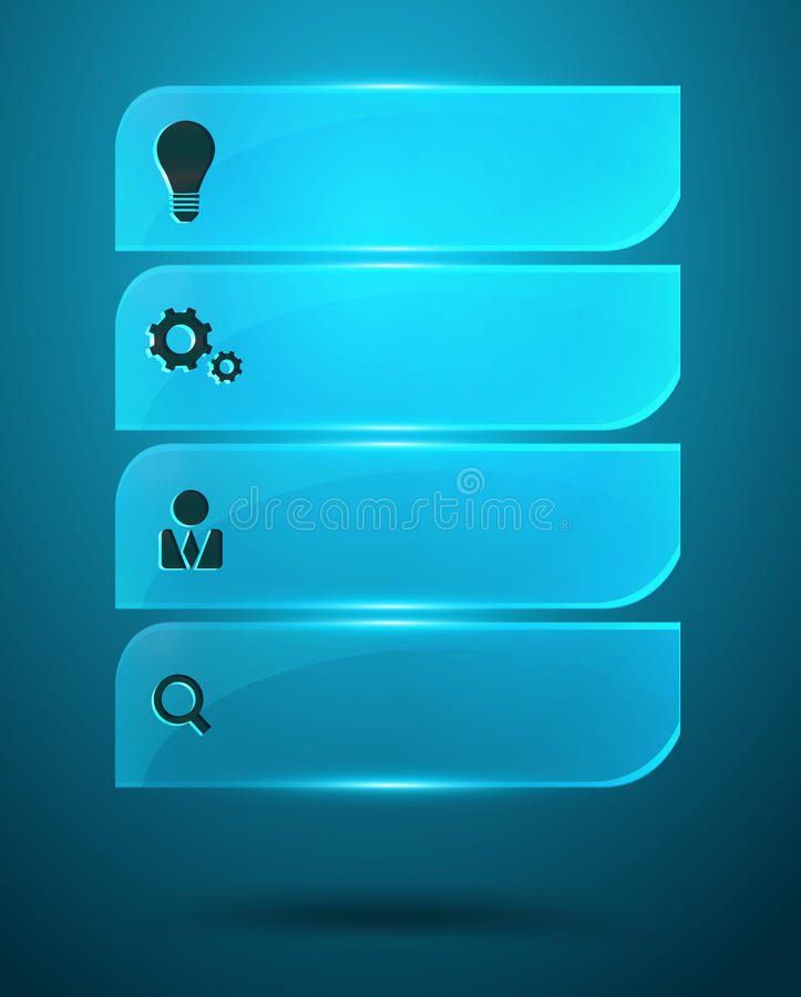 Download Glass Infographics Vector Elements Royalty Free Stock Photos - Image: 34385198